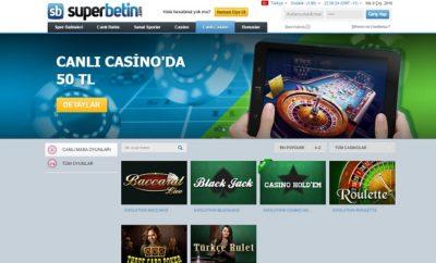 Superbetin canli casino