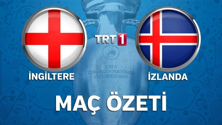 İngiltere İzlanda geniş maç özeti