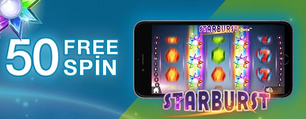 Superbetin Casino 50 Free Sins Starburst Slot