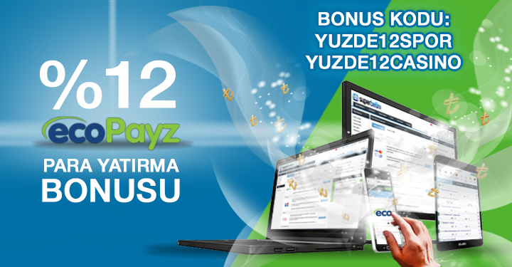 Süperbetin EcoPayz %12 Bonus Kodu: Yuzde12spor, YUZDE12CASINO