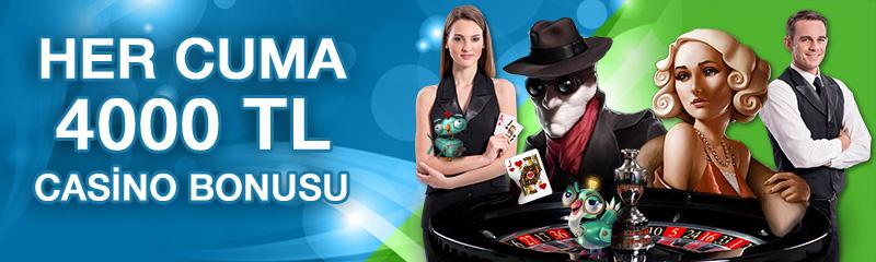 superbetin Her Cuma 4000TL Casino Bonusu