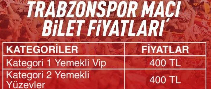 Betin Galatasaray - Trabzonspor maci fiyatlari