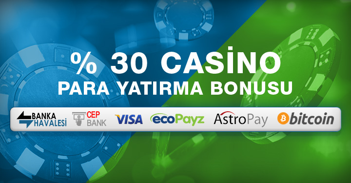 Süperbetin %30 Casino Para Yatırma Bonusu