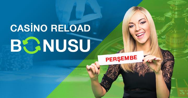 Perşembe %50 Casino Reload Bonusu