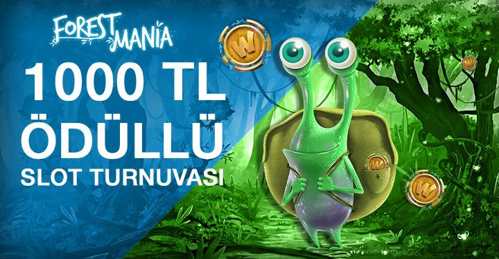 ISoftBet Günün Oyunu Forest Mania 1000 TL Bonus