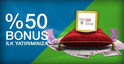 Superbetin % 50 Cepbank Bonusu
