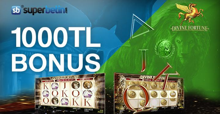 Superbetin'de Divine Fortune Oyna 1000 TL Bonus Kazan!