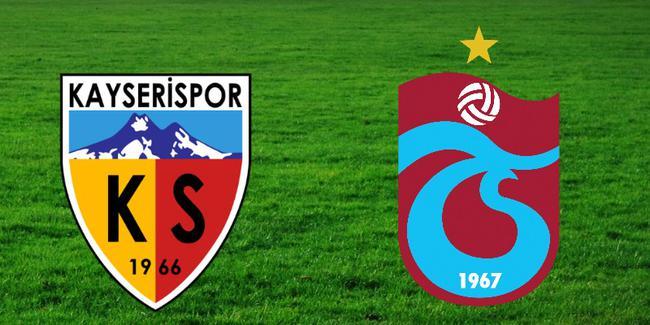 Kayserispor Trabzonspor Maçı