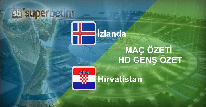 İzlanda Hırvatistan Maç Özeti