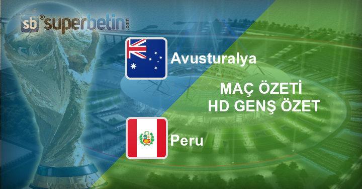 Avusturalya Peru Maç Özeti