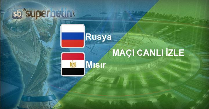 Rusya Mısır Maçı Canlı İzle