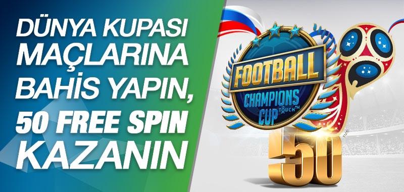 Dünya Kupası Free Spin Bonusu