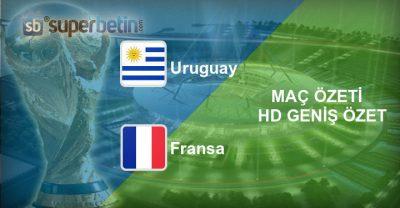 Uruguay Fransa Maç Özeti